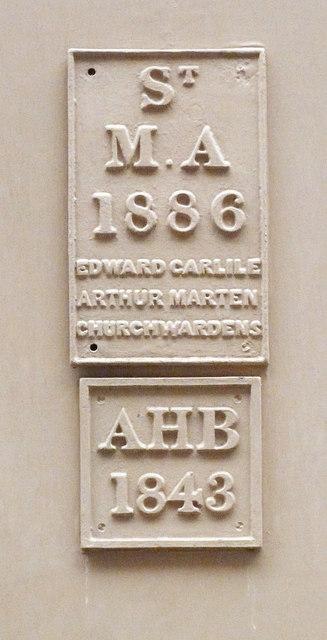 St Mary Abchurch parish boundary marker, Watling Street