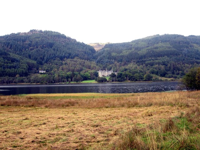 The scene at Loch Achray from the A821 road