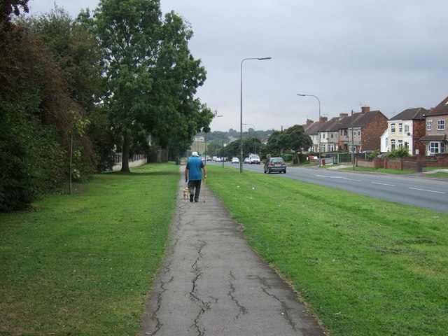 Path beside Mesingham Road (A159)