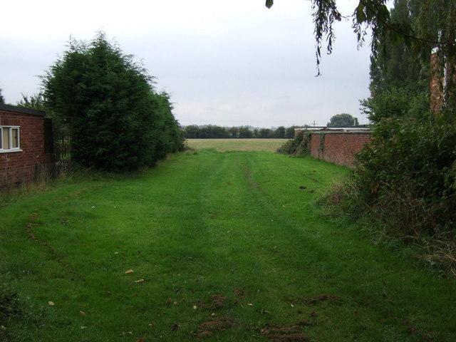 Track to farmland
