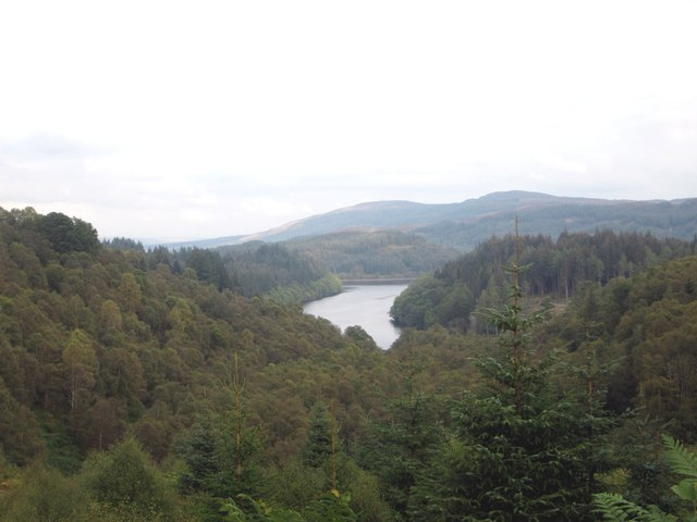 Achray Forest from the A821 road