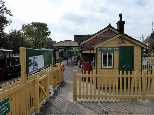 Isfield Station Entrance