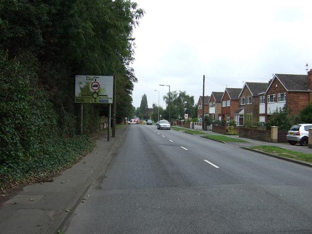 Burringham Road (B1450) approaching roundabout