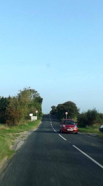 Entering Isleham on the B1104 Station Road