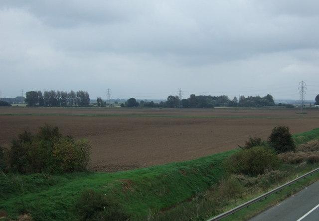 Farmland east of the M181