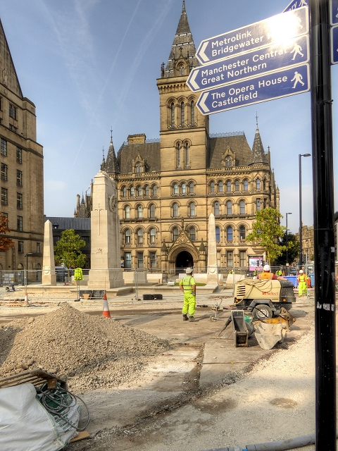 Re-siting the Cenotaph Next to Manchester Town Hall