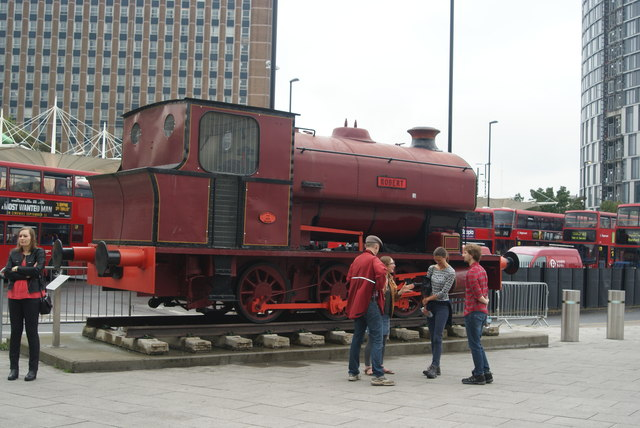View of the Robert steam engine from the Stratford Station concourse