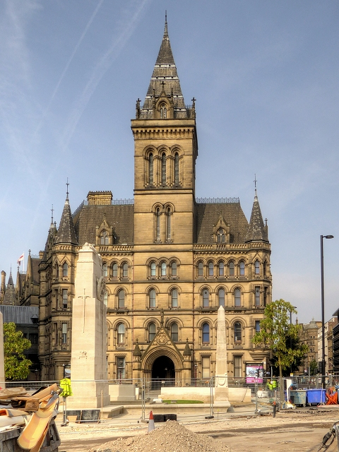 Manchester Town Hall and Cenotaph - September 2014