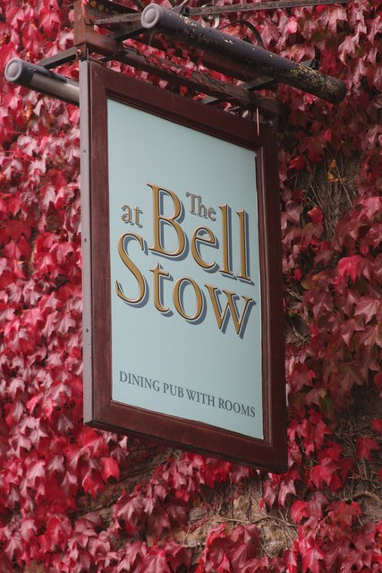 The Bell at Stow sign