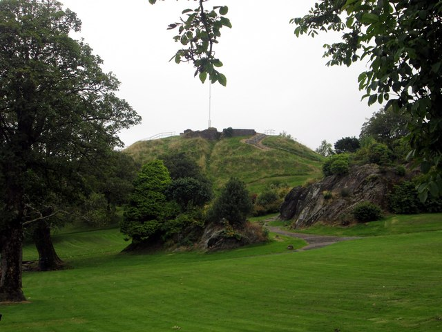 The castle hill in Dunoon