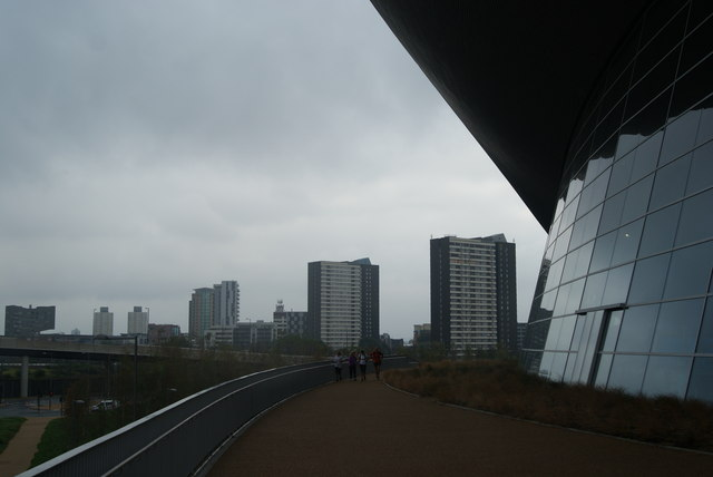 View of Dennison and Lund Points from the rear of the Aquatics Centre