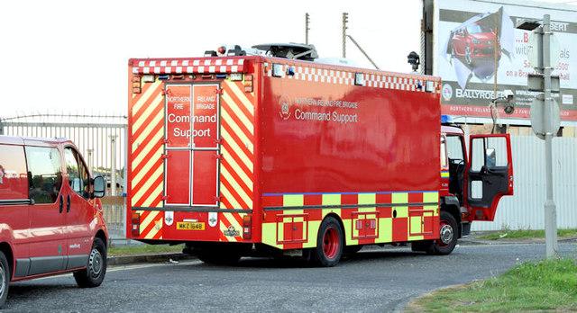 Fire Brigade command support vehicle , Belfast (September  2014)