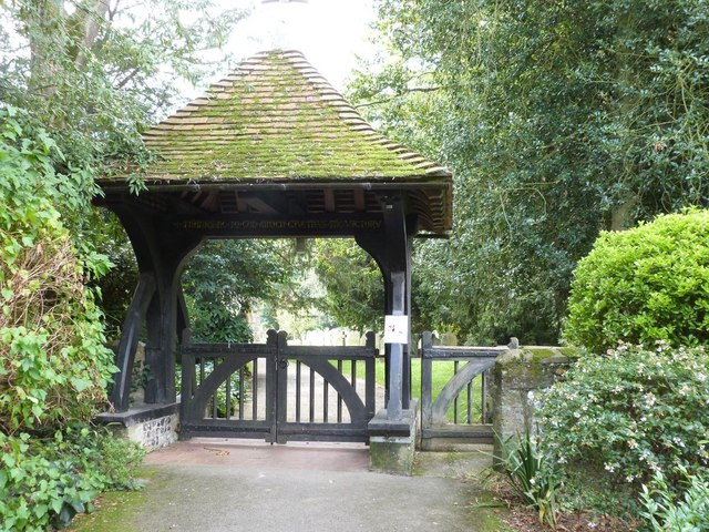 The Lych Gate entrance to the church of St. Mary the Virgin, Walberton, West Sussex