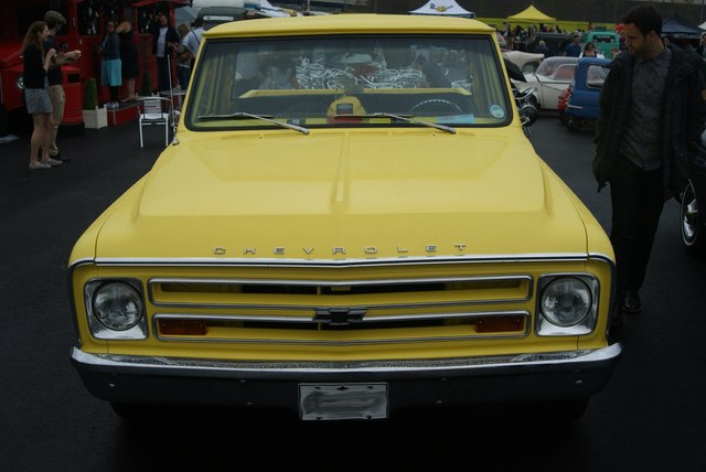 View of a 1968 Chevrolet in the Classic Car Boot Sale