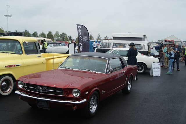 View of a Mustang in the Classic Car Boot Sale