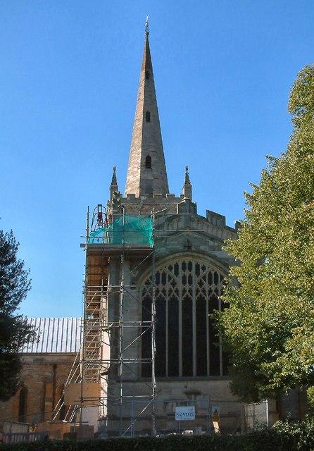 Holy Trinity under scaffold