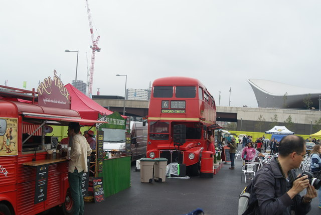 View of the Routemaster Bus Bar from the Classic Car Boot Sale