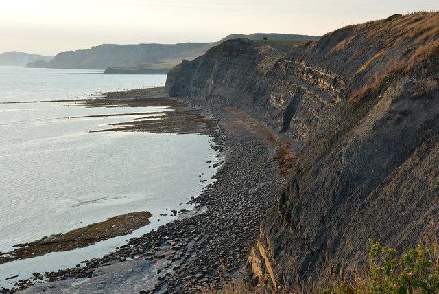 Cliffs east of Kimmeridge Bay, Dorset