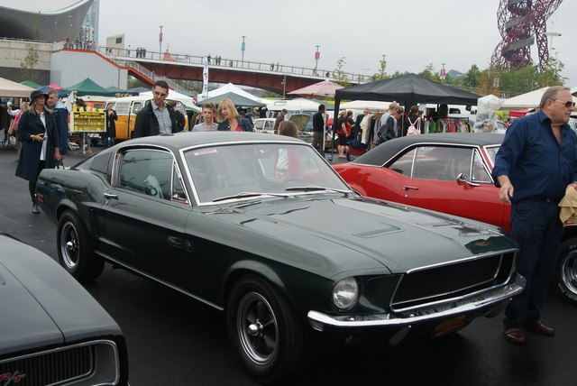 View of a 1968 390 V8 Ford Mustang GT in the Classic Car Boot Sale