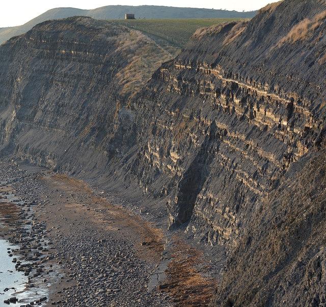 Cliff face east of Kimmeridge Bay, Dorset