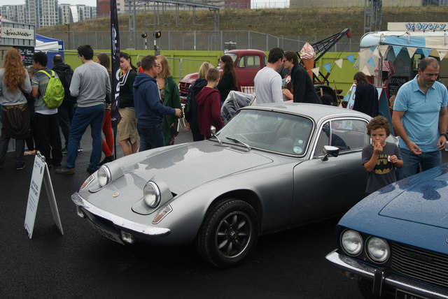View of a Lotus in the Classic Car Boot Sale