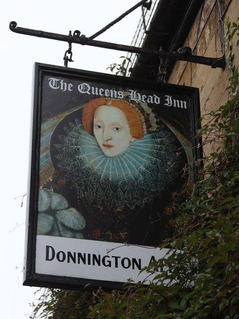 The Queens Head Inn sign