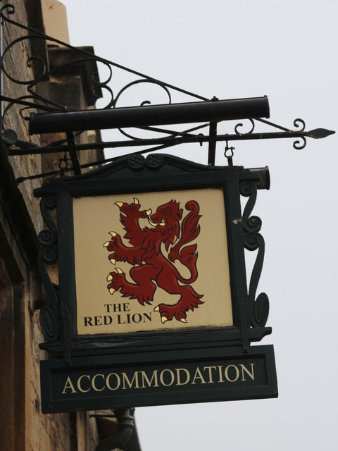 The Red Lion sign