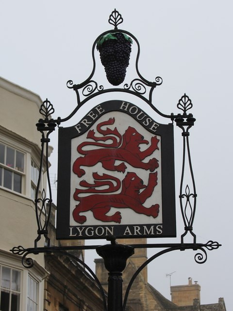Lygon Arms sign