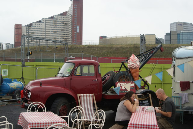 View of a Ford pick-up truck at the Classic Car Boot Sale