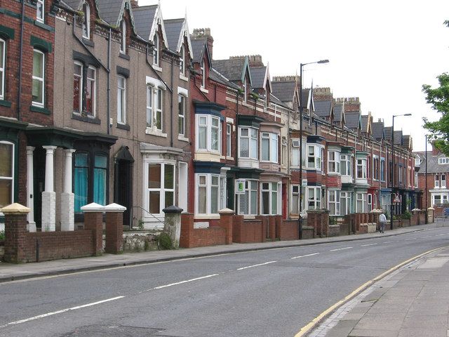 Hartlepool - terrace on south side of Stockton Road
