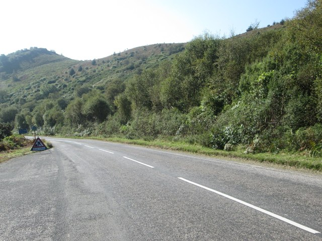 The A8003 nearing Tighnabruaich