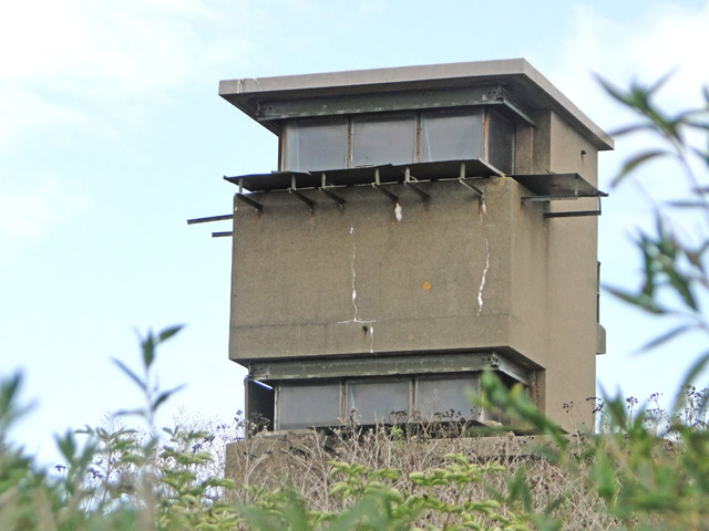 Close up of the control and observation post of Darell's Battery