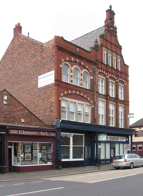 Hartlepool - 4-storey building on Park Road - from NE