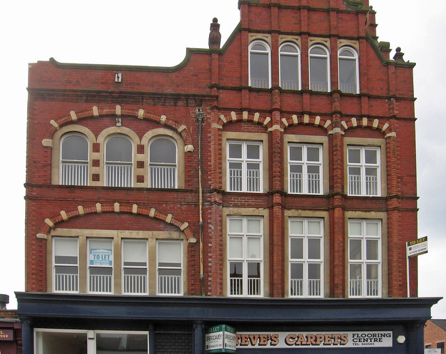 Hartlepool - 4-storey building on Park Road - from N