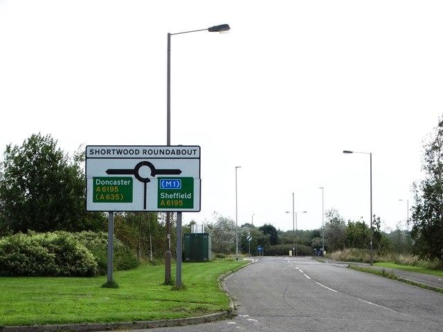 Approaching Shortwood Roundabout