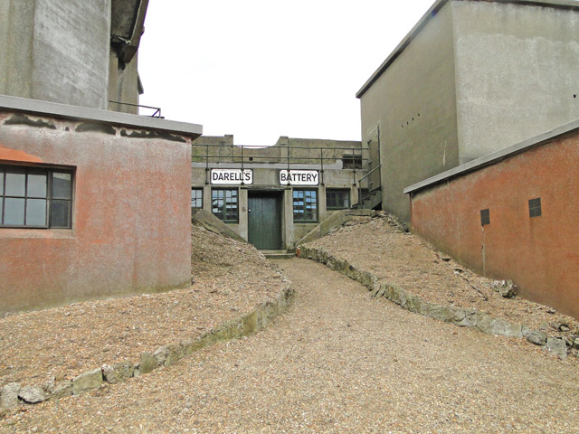 The entrance to Darell's Battery, Landguard Fort