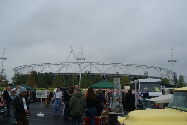 View of the Olympic Stadium from the Classic Car Boot Sale