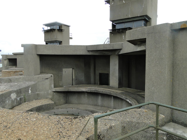 The seaward gun emplacement of Darell's Battery