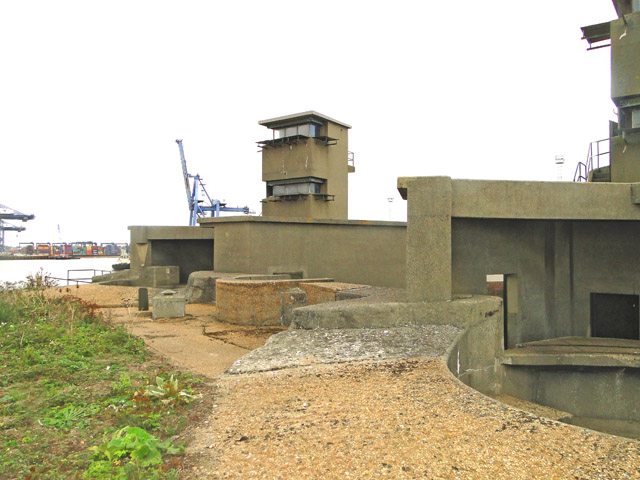 The gun emplacements of Darell's Battery
