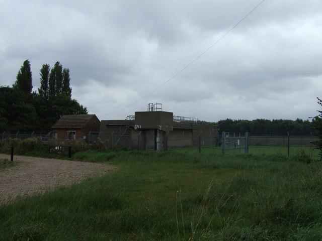 Sewage works south of Burringham