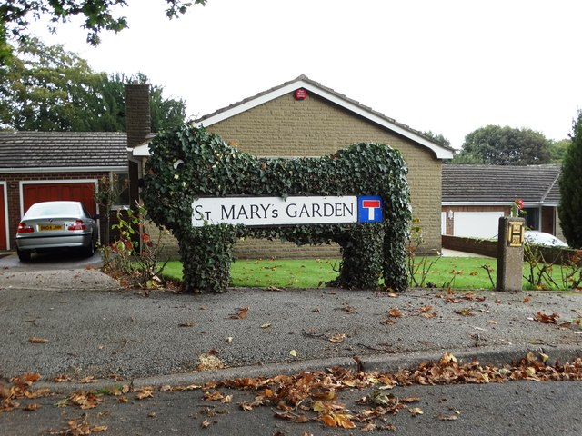 St Mary's Garden - street sign in Worsbrough