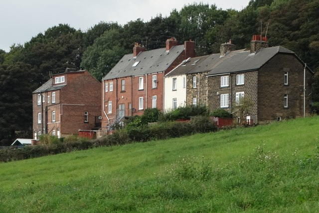 Rear of houses on Station Road, Worsbrough