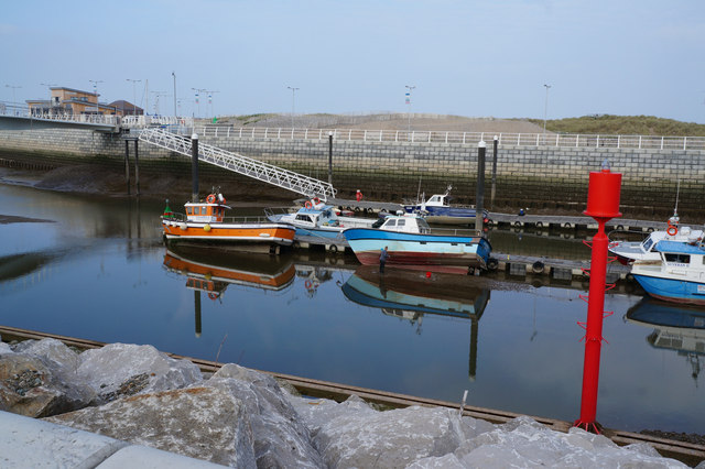 Boats on the River Clwyd, Rhyl