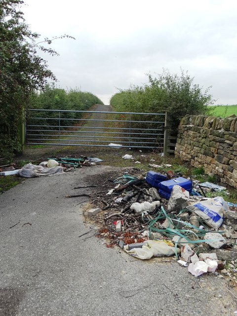 Fly-tipping by Woodhead Lane