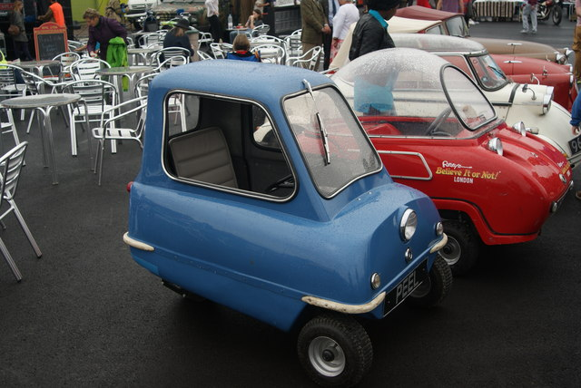 View of the Peel P50 from the Classic Car Boot Sale
