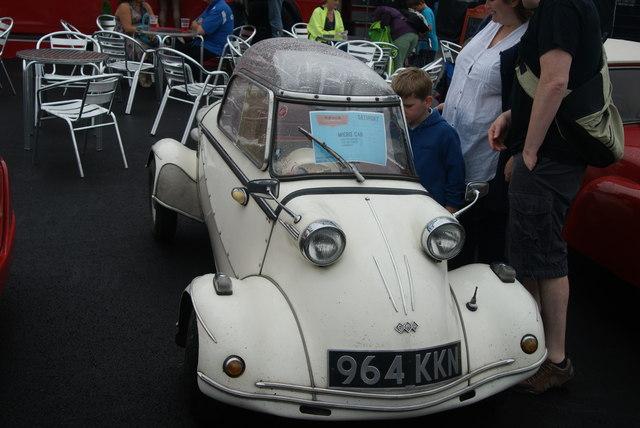 View of a Messerschmitt KR200 in the Classic Car Boot Sale