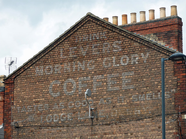 Ghost sign, King Street, Derby