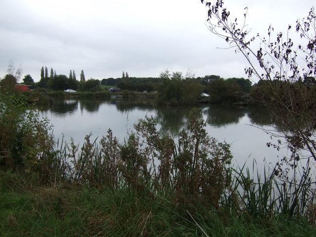 Fishing pond near Catchwater Farm