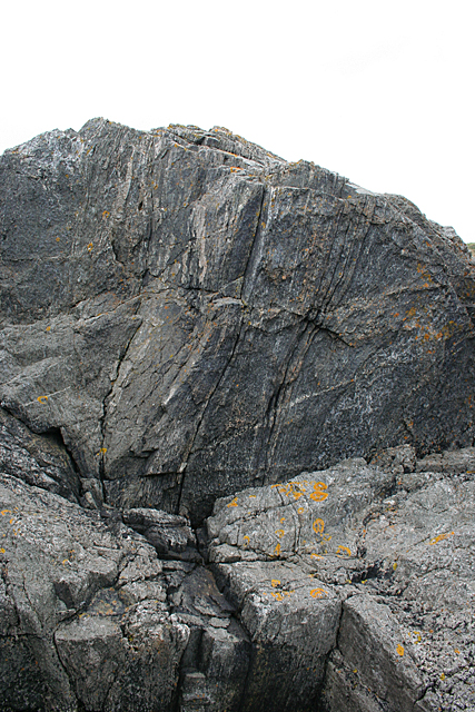 Shear Zone in Gabbro