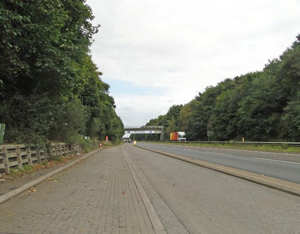 Railway bridge over the A14